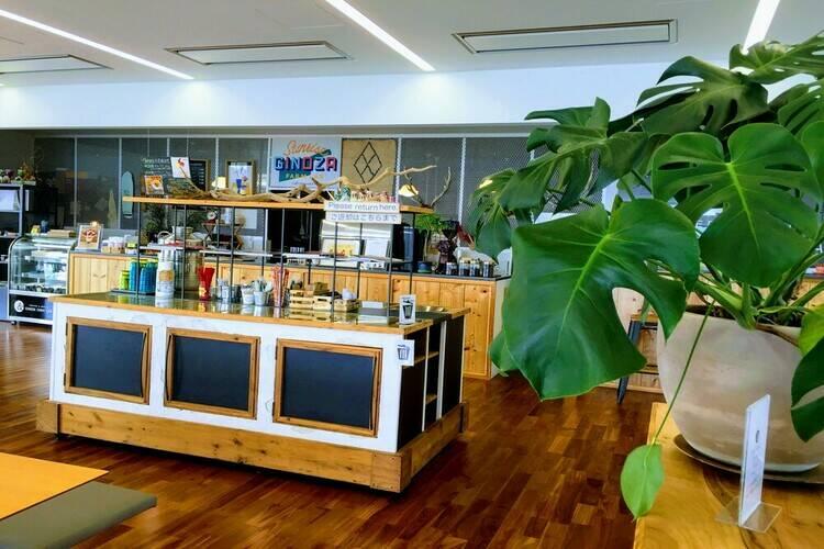 宜野座道の駅のカフェ