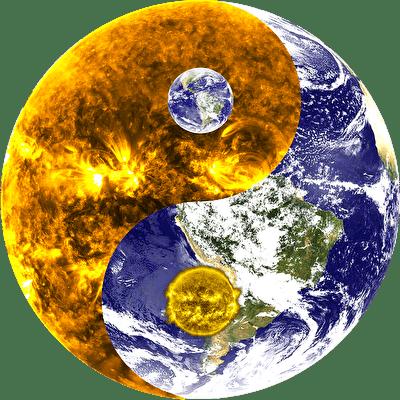 陰陽の地球と太陽